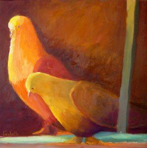 ציור של 2 יונים